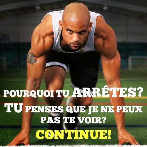 CONTINUE ARRETE PAS SUPERCARDIO CITATION MOTIVATION