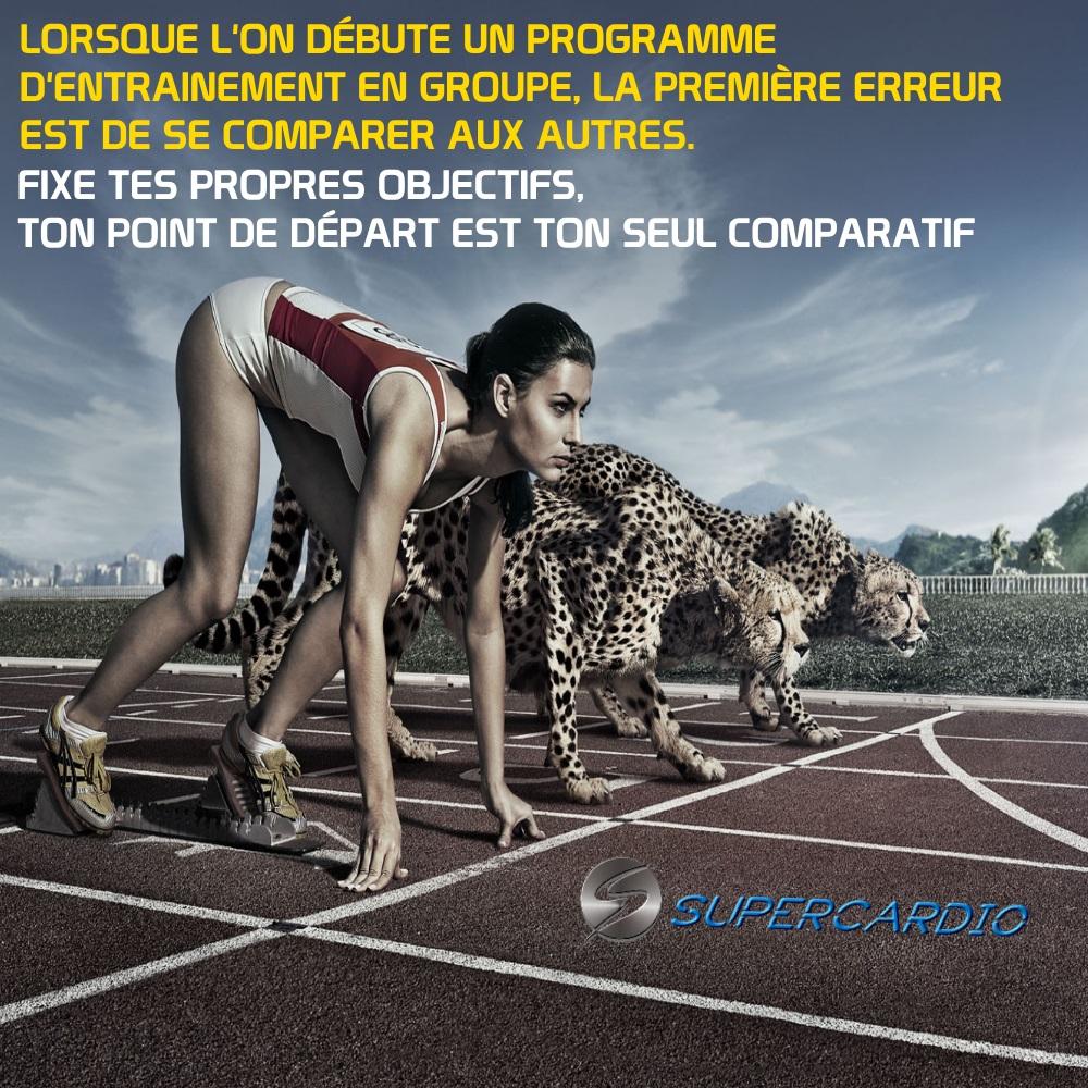 Départ comparer fitness motivation supercardio