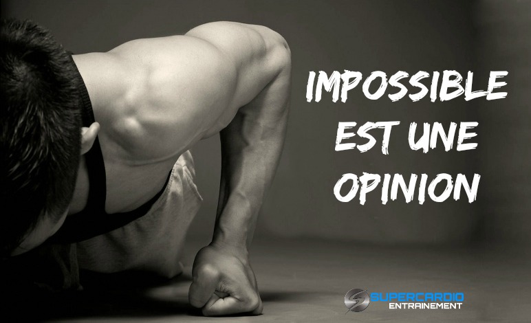 IMPOSSIBLE EST UNE OPINION CITATION FITNESS SUPERCARDIO