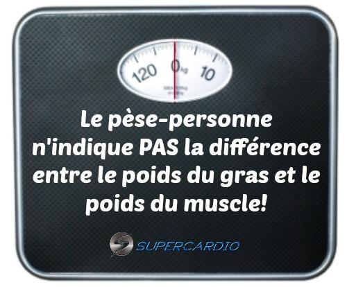 balance poids gras muscle supercardio