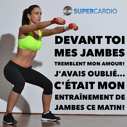 entrainement de jambes supercardio citation fitness