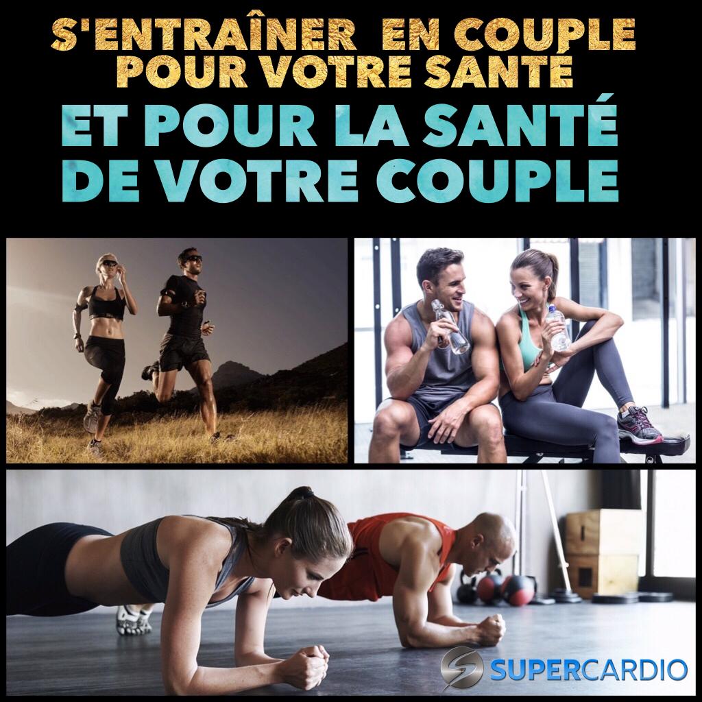 entrainement en couple motivation fitness supercardio