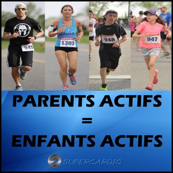 parents actifs enfants actifs citation fitness supercardio