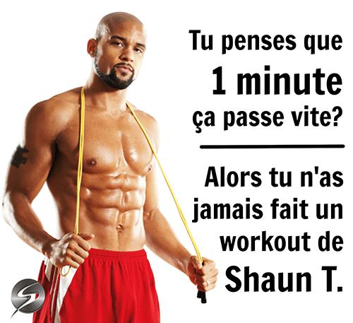 workout avec shaun t supercardio citation motivation