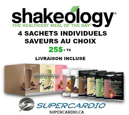 Shakeology achat rabais quebec supercardio