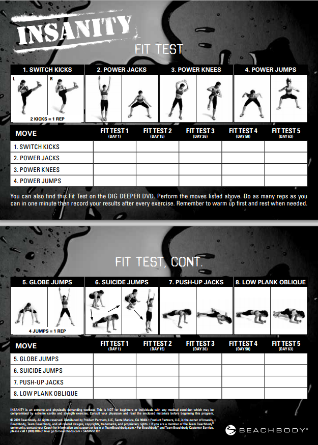 fit test Insanity