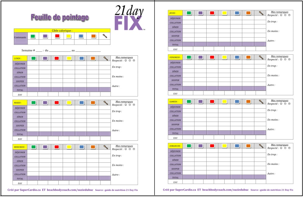 free printable 21 day fix food cheat sheet