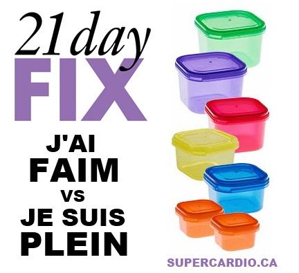 21 DAY FIX FAIM PLEIN
