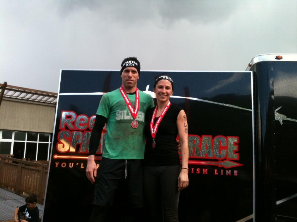Pat et Cindy après la course 2014