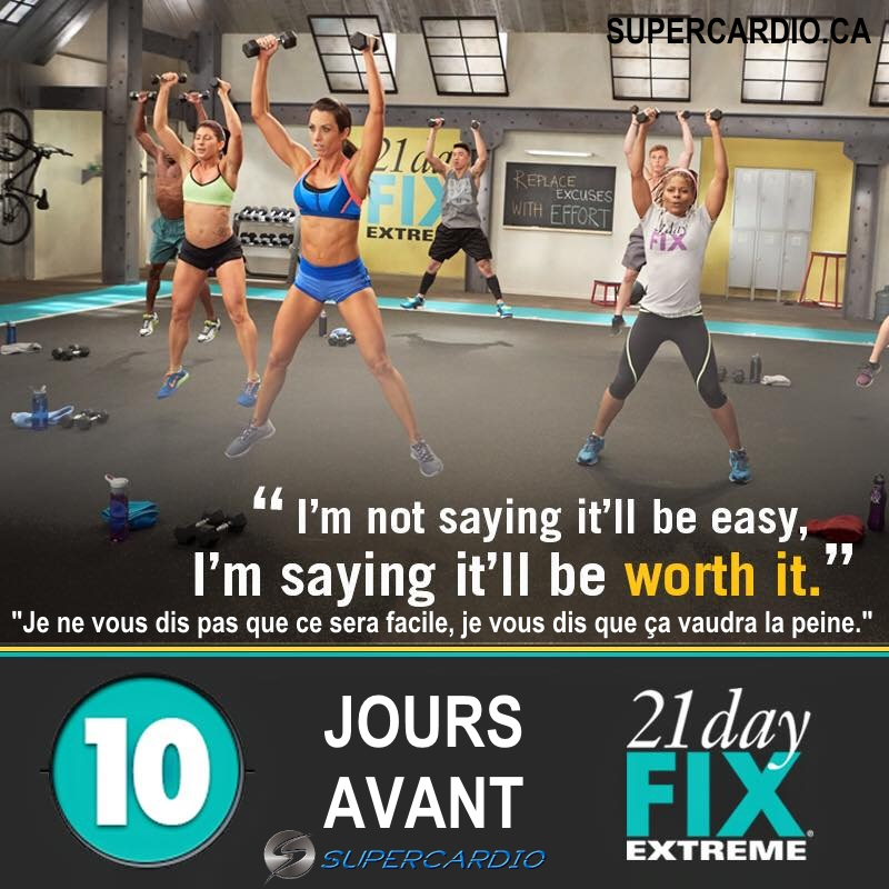 21 DAY FIX EXTREME 10 JOURS