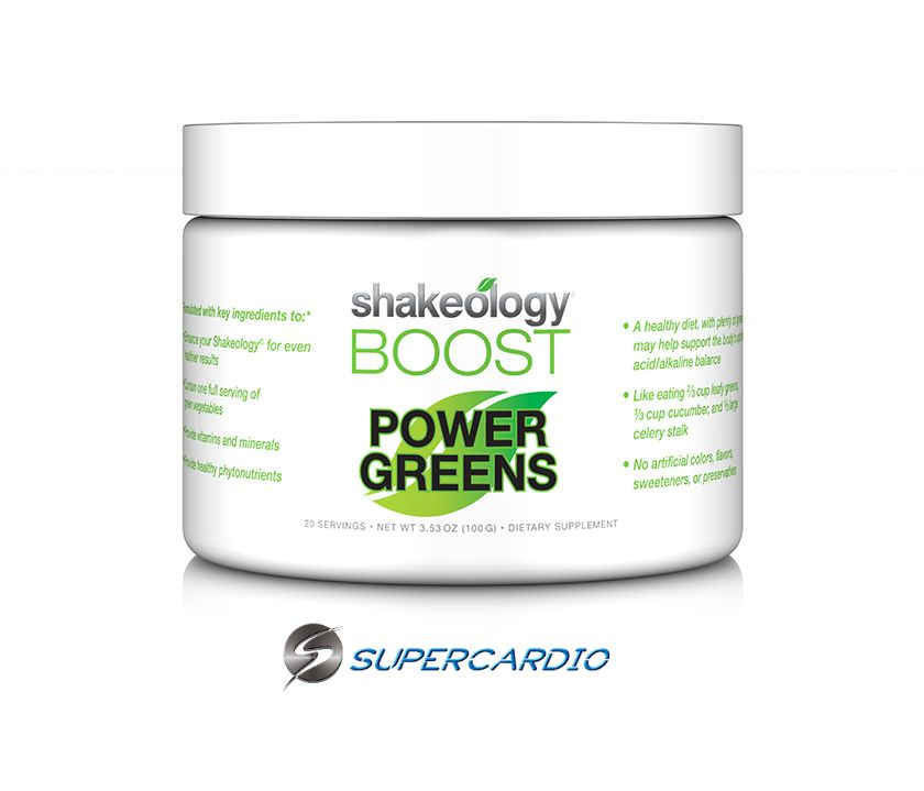 power greens boost shakeology supercardio