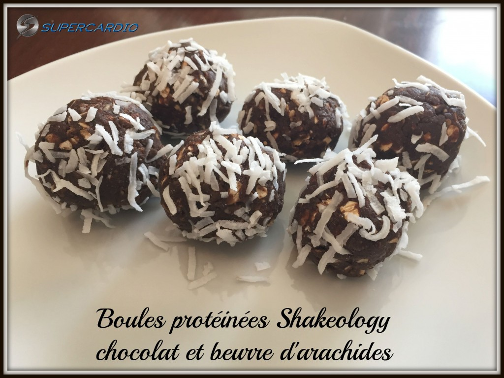 boules protéinées shakeology chocolat beurre arachides supercardio
