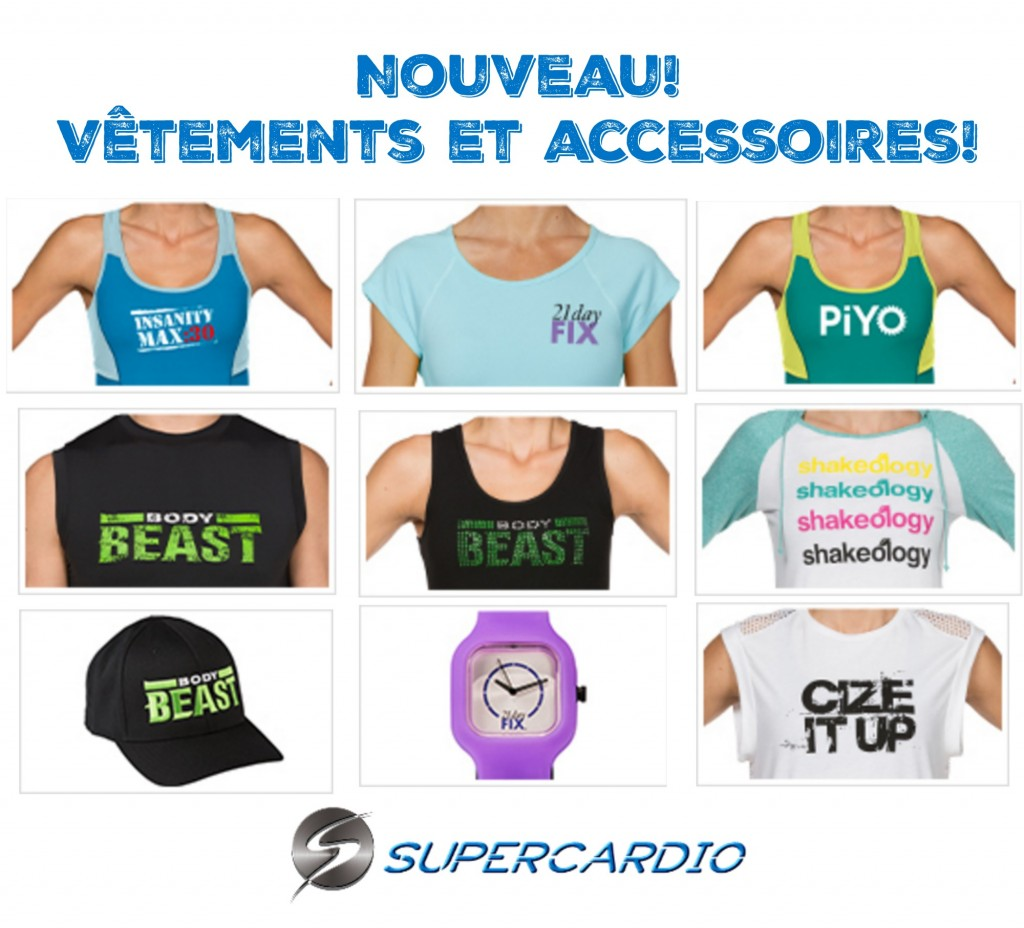 vêtements beachbody supercardio