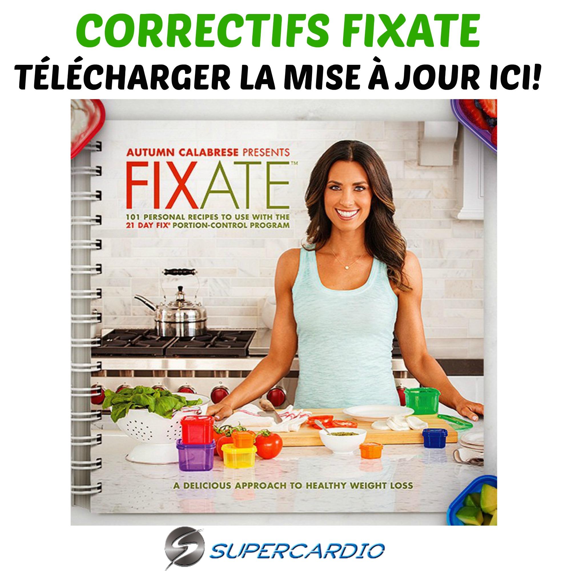 Correctifs du livre de recettes FIXATE