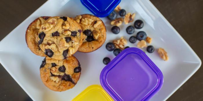Muffins aux bleuets et aux flocons d'avoine