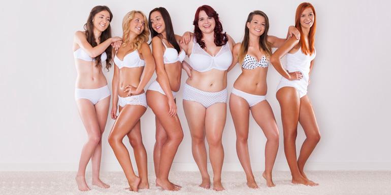 femmes differents poids imc