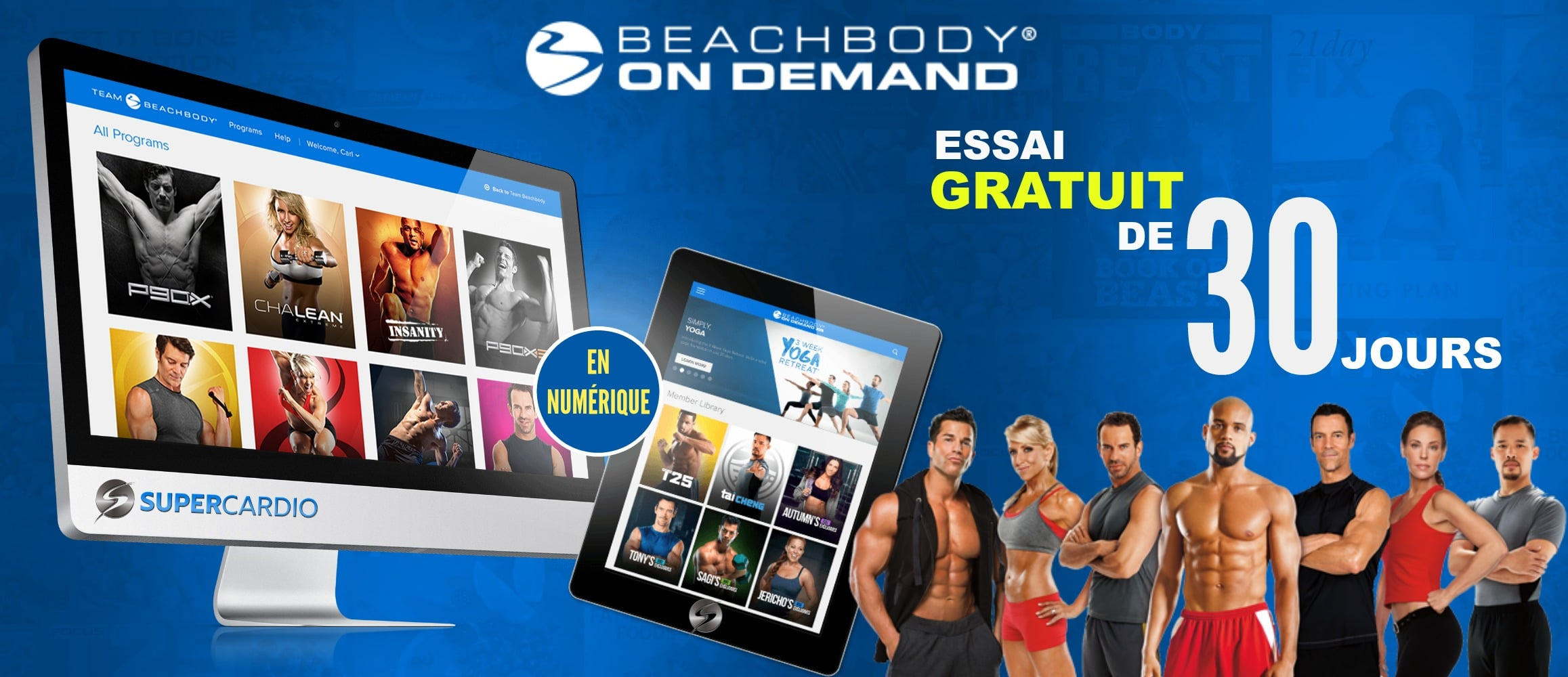 Beachbody on Demand essai gratuit 30 jours supercardio