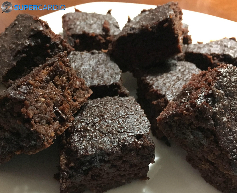 Brownies au chocolat sans farine avec pois chiches