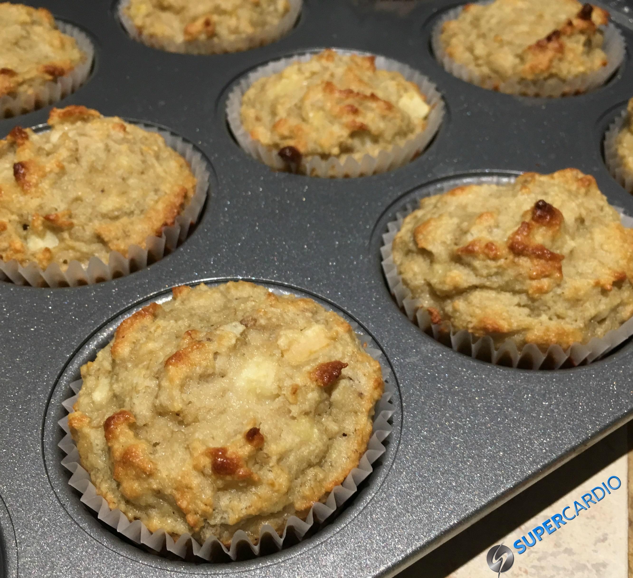 Muffins aux pommes et aux bananes sans farine