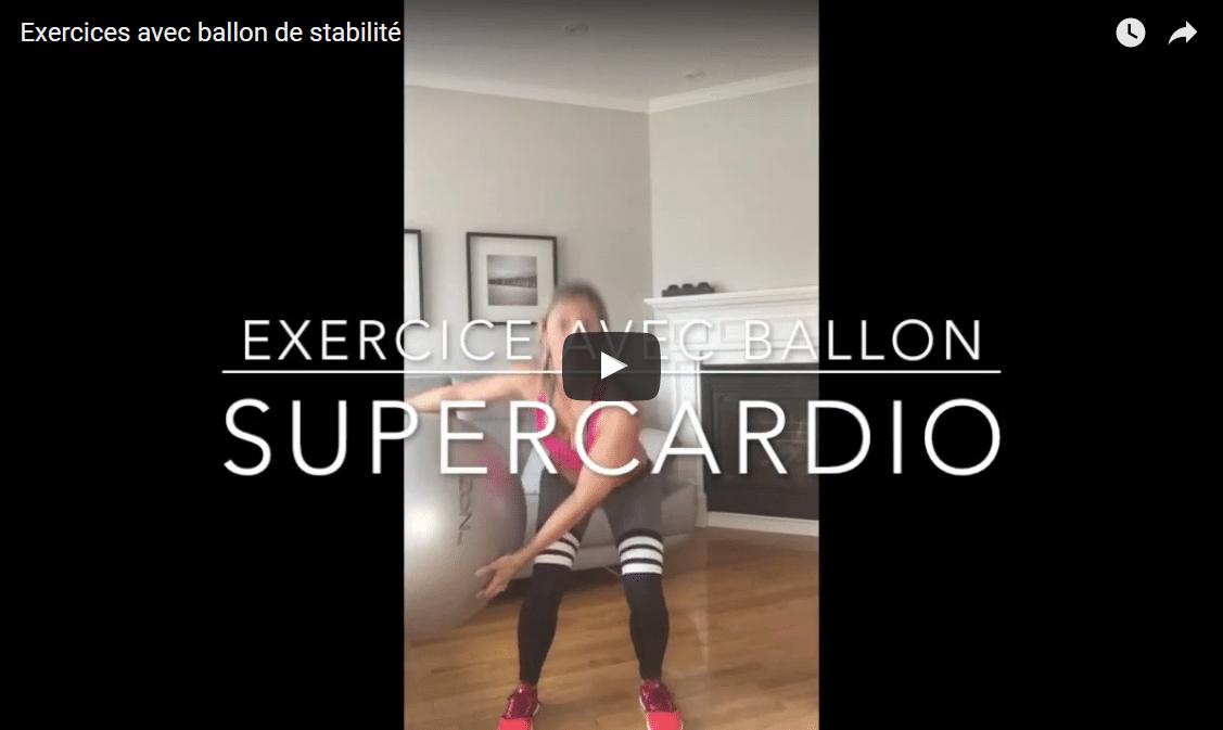 Exercices avec ballon de stabilité