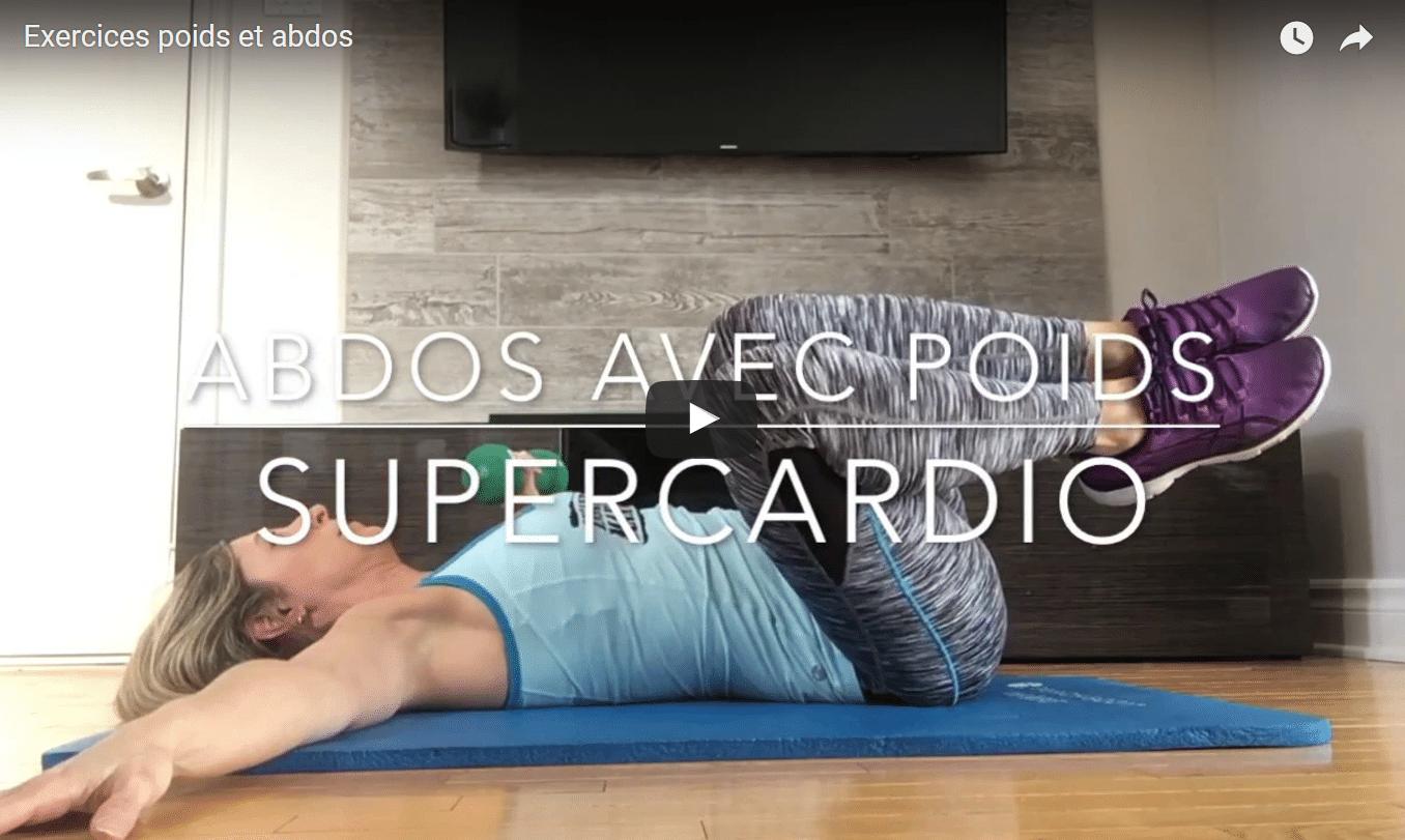 Exercices ABDOS avec des POIDS