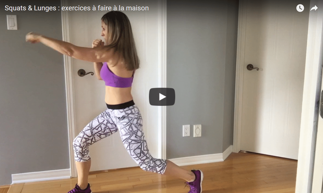 Squats & Lunges : exercices à faire à la maison