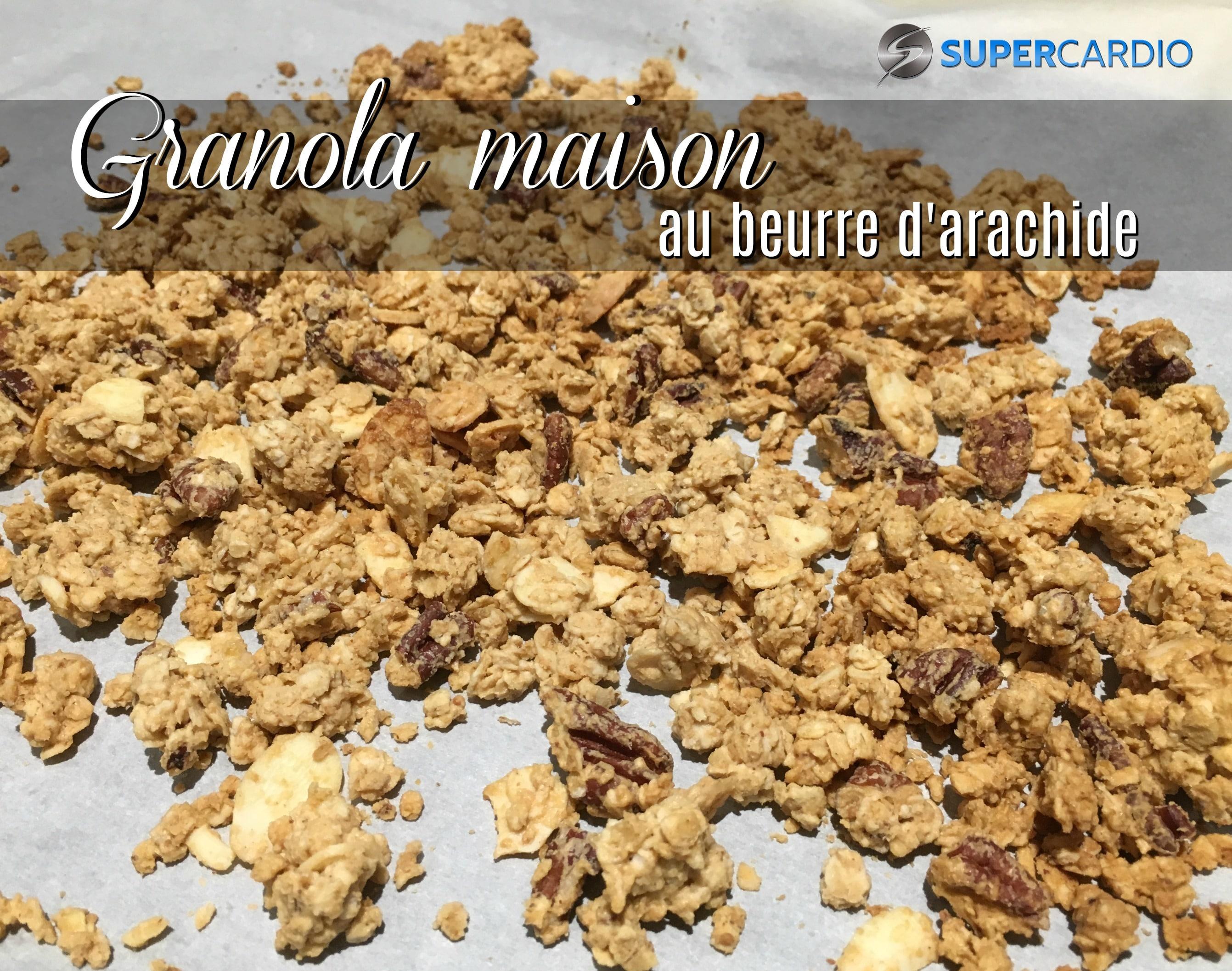 Granola maison au beurre d'arachide
