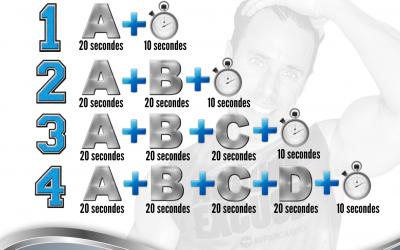 La Pyramide Cardio de 4 minutes